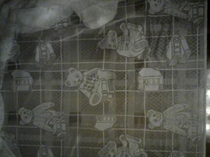 Teddy bear curtain fabric. Cream 5 m x 2.2m drop Richmond Hawkesbury Area Preview