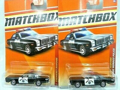 Matchbox '78 Dodge Monaco Police Car Diecast Car Lot of 2: New In Package!