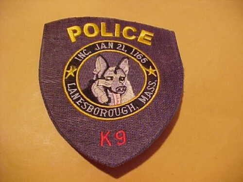 LANESBOROUGH MASSACHUSETTS K-9 POLICE PATCH SHOULDER SIZE UNUSED NO EDGE