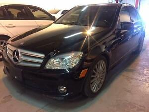 2010 MERCEDES BENZ C250 4MATIC, BLACK/ BLACK, LEATHER, LOADED!