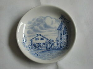 Little Blue and White Plate or Coaster – Upper Canada Village