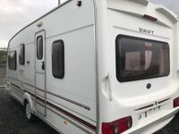 *Bank Holiday Weekend* - Save £795 + Free Awning & Access. Swift Challenger 490 4/5/6 Berth. Mint.