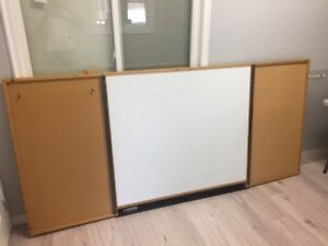 Boardroom folding white board
