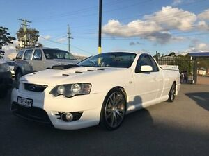 2003 Ford Falcon BA XR8 White 4 Speed Sports Automatic Utility Sandgate Newcastle Area Preview