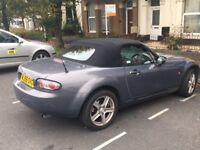 AMAZING MX 5 convertible, is dark grey, only 64000 miles fantastic condition. alloys, FSH
