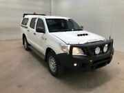 2015 Toyota Hilux KUN26R MY14 SR (4x4) Glacier White 5 Speed Automatic Dual Cab Pick-up Bohle Townsville City Preview