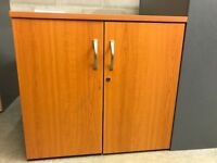 Double Door Cupboard, With 1 Shelf. Finished In Cherry. 740mm Height x 800mm Width. 1 In Stock.