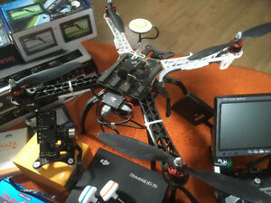 Whole Drone set up DJI F450 Futaba T8FG Naza gimbal FPV