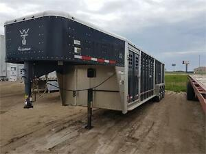 Wilson Forman 30 foot cattle trailer