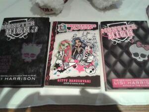 NEW- Monster High Books- Hard -Soft Cover