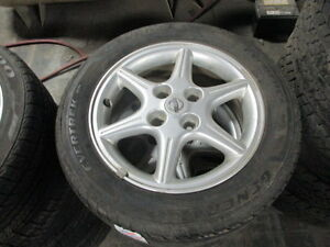 "GENERAL EVERTREK 205/55R16 TIRES ON 16"" NISSAN ALLOY RIMS / WHEELS 4X100 BOLT PATTERN NEW CONDITION"