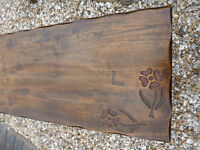Antique Rustic OAK ELM COFFEE TABLE 3ft Heavy Hand Carved Solid Wood Living Dining Room Holiday Home