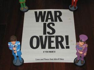 "John Lennon & Yoko ""War is Over"" Original Poster 1970 Original Québec City Québec image 1"