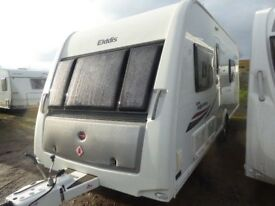 Elddis Supreme 564 4 berth fixed bed/or seating option. SOLID construction.