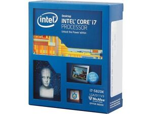 Intel Core i7-5820K Haswell-E 6-Core with liquid cooler