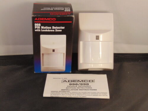 ADEMCO  998 PIR Motion Detector New with Lookdown Zone