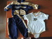 Blue Bomber outfit 6-9 months