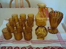 Decorative Vintage Amber glassware Hamilton South Newcastle Area Preview