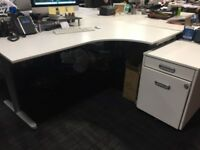 16 office tables including drawers