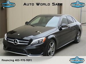 2015 MERCEDES C300-4MATIC|AMG PACK|PAN ROOF-NAV/WOODEN TRIM