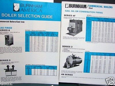 BURNHAM Corp Residential & Commercial BOILERS Selecting Enchiridion 4pg 1978 Asbestos?