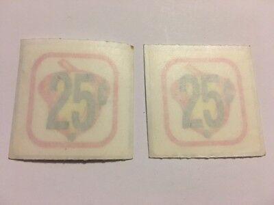 2 Original Oak Acorn 25 Cent .25 Price Decal Stickers Gumball Vending Machine