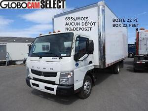 FUSO FE-180 2012  BOITE 22PI+RAMPE  695$/MOIS