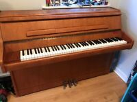 Bentley Acoustic Piano (1976) Three Pedals Including Practice Pedal