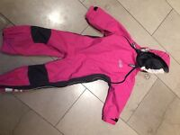 Splash suit: Spotty Otter all in one pink splash suit. Age 3-4 generous sizing