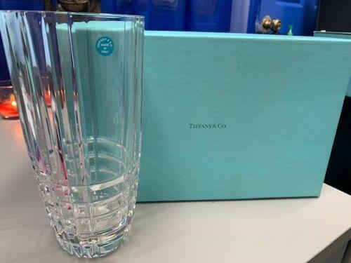 "Tiffany & Co Crystal Vase 9"""
