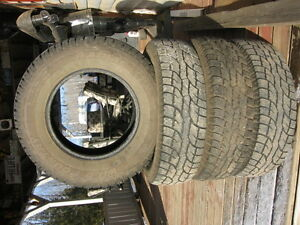 wild country 225/75r16 four used winter tires reference 1