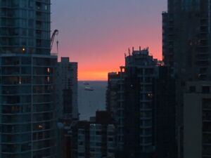 Yaletown *VIEW 24th floor* 1 bed and den parking  utilities inc
