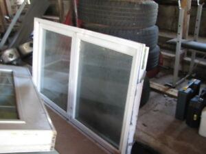 Vinyl windows and inserts for sale..good condition