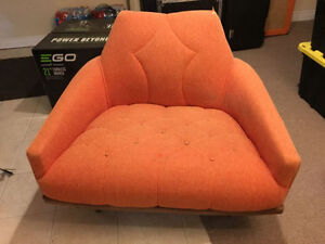 Mid Century Modern Lounge Chair - MCM Orange Retro