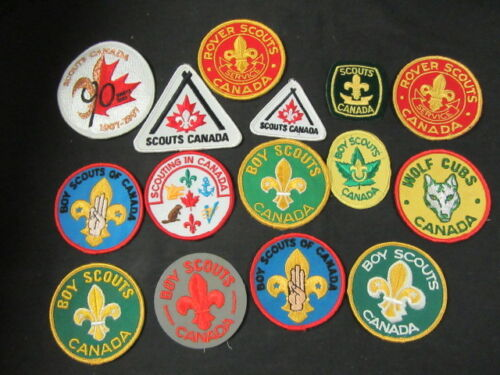 Scouts Canada and Boy Scouts Canada Patches Lot of 15    FX