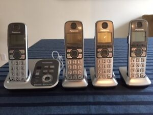 Panasonic 4 Handset Cordless Phones with Digital Answering