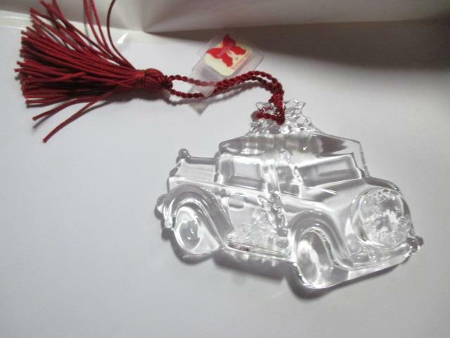 Waterford Crystal Ornament 2004 1st Christmas Just Married NIB