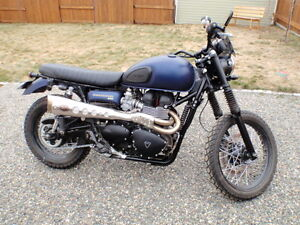 2015 Triumph Scrambler with lots of upgrades