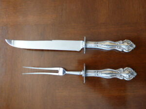 STERLING SILVER CARVING SET
