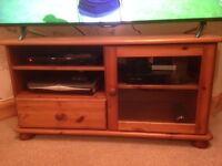 Pine TV unit, Pine corner unit & Pine bookcase