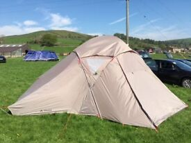 Great 4 person tent. only used twice excellent cond. inclds ground sheet. Just too big for us