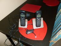 BINATONE LUNA 1215 TWIN PHONES IN WORKING ORDER