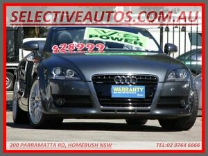 2007 Audi TT 8J 3.2 Quattro Grey 6 Speed Direct Shift Roadster Homebush Strathfield Area Preview