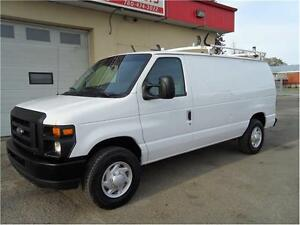 2009 FORD E-250 CARGO VAN DIVDER LADDER RACK SHELVES LEASE BACK