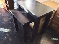 new nest of tables in black finish inbox viewing welcome