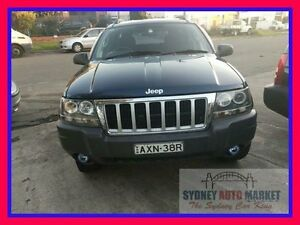 2005 Jeep Grand Cherokee WG MY2004 Laredo Blue 5 Speed Automatic Wagon Condell Park Bankstown Area Preview
