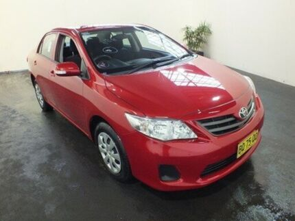 2012 Toyota Corolla ZRE152R MY11 Ascent Wildfire 4 Speed Automatic Sedan Clemton Park Canterbury Area Preview