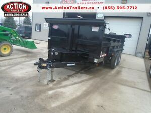 14' DUMP TRAILER WITH COMBO RAMP/BARN GATES - 5 TON $147 MONTHLY