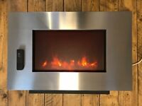 Electric wood fireplace - 3 speeds