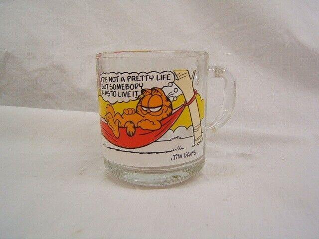 Glass Garfield Characters Mug c 1978 McDonald